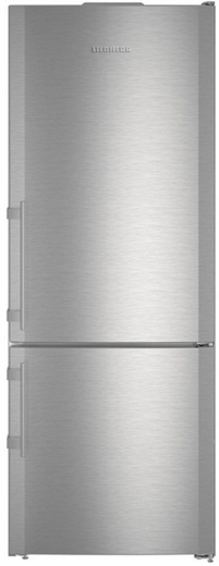 """CBS1660 Liebherr 30"""" 14.9 Cu. Ft. Capacity Freestanding Refrigerator with Bottom-Mount Freezer and BioFresh Technology - Right Hinge - Stainless Steel"""