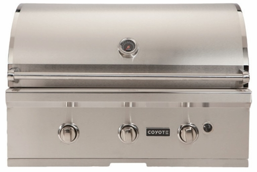 """CC3LP Coyote 34"""" C-Series Outdoor Grill - Liquid Propane - Stainless Steel"""