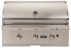 """CC3NG Coyote 34"""" C-Series Outdoor Grill - Natural Gas - Stainless Steel"""