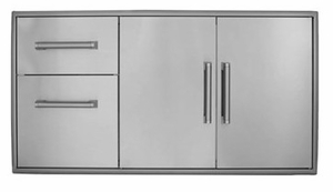 CCD2DC Coyote Two Drawer Cabinet Plus Double Access Doors