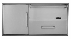 CCDWD Coyote Warming Drawer Plus Pull-Out Drawer and Single Storage Drawer