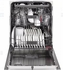 "CDT865SMJDS 24"" GE Cafe Series Stainless Interior Built-In Diswasher with Hidden Controls and Hidden Vent - Black Slate"