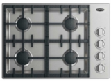 "CDV2304HN DCS 30"" Drop-In Cooktop with 4 Burners and a Halo - Natural Gas - Stainless Steel"