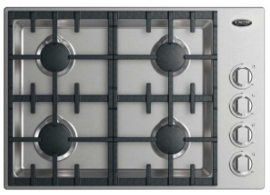 """CDV2304L DCS 30"""" Drop-In Cooktop with 4 Burners - Liquid Propane - Stainless Steel"""