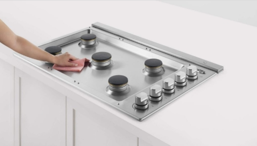 """CDV2365HN DCS 36"""" Drop-In Cooktop with 5 Burners and a Halo - Natural Gas - Stainless Steel"""