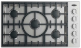"CDV2365HN DCS 36"" Drop-In Cooktop with 5 Burners and a Halo - Natural Gas - Stainless Steel"