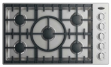 "CDV2365L DCS 36"" Drop-In Cooktop with 5 Burners - Liquid Propane - Stainless Steel"