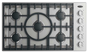 "CDV2365N DCS 36"" Drop-In Cooktop with 5 Burners - Natural Gas - Stainless Steel"