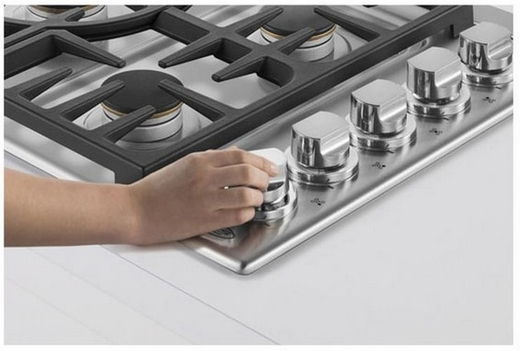 """CDV365L DCS 36"""" Wide Professional Drop-in Gas Cooktop with 5 Dual Flow Burners - Liquid Propane - Stainless Steel"""