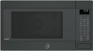 "CEB1599ELDS 22"" GE Cafe 22"" 1.5 cu. ft. Countertop Convection Microwave Oven with 1,000 Watts and 10 Power Levels - Black Slate"