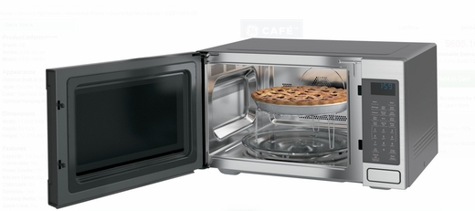 "CEB1599SJSS 22"" GE Cafe 1.5 cu. ft. Countertop Convection Microwave Oven with 1,000 Watts and 10 Power Levels - Stainless Steel"