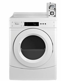 """CED9050AW 27"""" Whirlpool Commercial Electric Dryer with Factory Installed Coin Slide and Coin Box - White"""