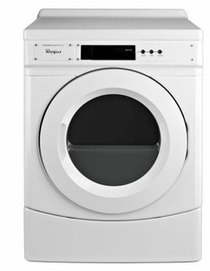 "CED9060AW 27"" Whirlpool Commercial Electric Dryer with 6.7 cu. ft. Capacity and Front Push Button Controls - White"