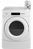 "CED9150GW Whirlpool 27"" Commercial Electric Front-Load Dryer with OneTouch Cycle Selection and Factory Installed Coin Box - White"
