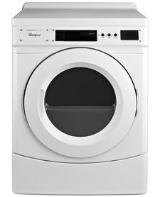 "CED9160GW Whirlpool 27"" Commercial Electric Front-Load Dryer with OneTouch Cycle Selection and Simple Programming - White"