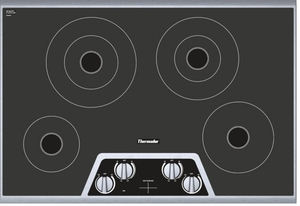 "CEM304NS Thermador 30"" Masterpiece Series Electric Cooktop with Digital Control - Black and Stainless Steel"