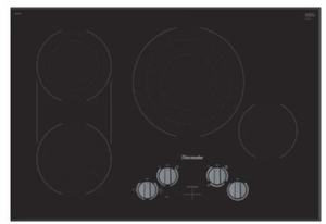 "CEM305TB Thermador 30"" Masterpiece Electric Cooktop with Dual Zone Bridge Element and Heavy Duty Stainless Steel Metal Knobs - Black Frameless"