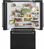 """CFE28UELDS GE Cafe 36"""" Energy Star 27.8 Cu. Ft. French-Door Refrigerator with Keurig K-Cup Brewing System and LED Lighting - Black Slate"""