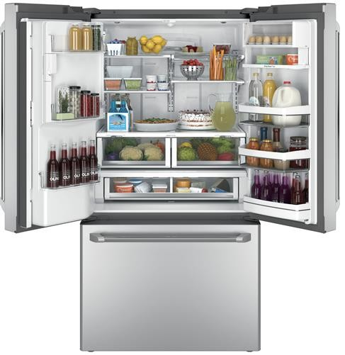 "CFE28USHSS GE Cafe 36"" Energy Star 27.8 Cu. Ft. French-Door Refrigerator with Keurig K-Cup Brewing System - Stainless Steel"