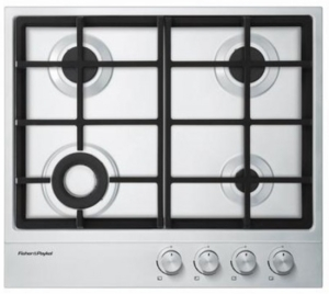 "CG244DLPX1 Fisher & Paykel 24"" Gas Cooktop with 4 Burners Including Mini Wok Burner - Stainless Steel"