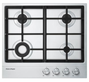 "CG244DNGX1N Fisher & Paykel 24""  Gas on Steel Cooktop 4 Burners  - Stainless Steel"