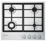 "CG244DNGX1 Fisher & Paykel 24""  Gas on Steel Cooktop 4 Burners  - Stainless Steel"