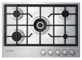 "CG305DLPX1N Fisher & Paykel 30"" Gas Cooktop with 5 Burners and Easy Clean - Stainless Steel"