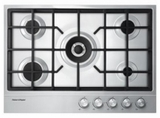 "CG305DLPX1 Fisher & Paykel 30"" Gas Cooktop with 5 Burners and Easy Clean - Stainless Steel"