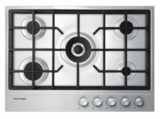 "CG305DNGX1 Fisher & Paykel 30"" Gas on Steel Cooktop 4 Burners - Stainless Steel"