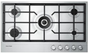 "CG365DLPX1N Fisher & Paykel 36"" LP Gas Cooktop with Easy Clean Design - Stainless Steel"