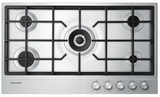 "CG365DLPX1 Fisher & Paykel 36"" LP Gas Cooktop with Easy Clean Design - Stainless Steel"