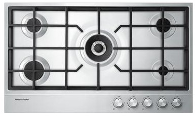 "CG365DNGX1N Fisher & Paykel 36"" Natural Gas Cooktop with Easy Clean Design - Stainless Steel"