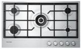 "CG365DNGX1 Fisher & Paykel 36"" Natural Gas Cooktop with Easy Clean Design - Stainless Steel"