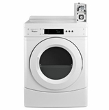 "CGD9050AW 27"" Whirlpool Commercial Gas Dryer with Factory Installed Coin Slide and Coin Box - White"