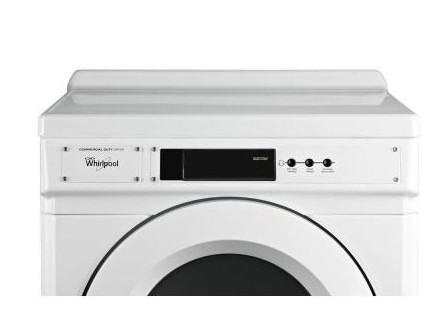 """CGD9060AW 27"""" Whirlpool Commercial Gas Dryer with 6.7 cu. ft. Capacity and Front Push Button Controls"""