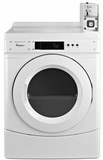 "CGD9150GW Whirlpool 27"" Commercial Gas Front-Load Dryer with OneTouch Cycle Selection and Factory Installed Coin Box - White"