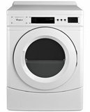 "CED9160GW Whirlpool 27"" Commercial Gas Front-Load Dryer with OneTouch Cycle Selection and Simple Programming - White"