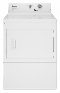 """CGM2795FQ Whirlpool 27"""" 7.4 Cu. Ft. Gas Commercial Super Capacity Dryer with Heavy Gauge Cabinet and Full-Wrap Console - White"""