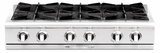 "CGRT362G2L Capital 36"" Liquid Propane Range Top with 4 Open Burners and 12"" Griddle - Stainless Steel"