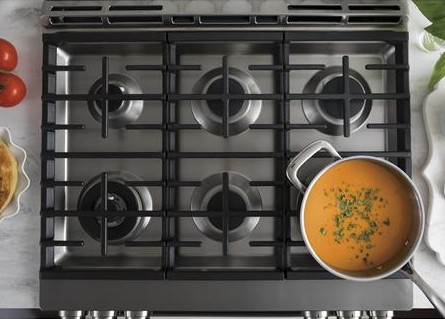 CGS986SELSS GE Cafe Series Slide-In Front Control Range with Warming Drawer and True European Convection - Stainless Steel