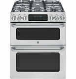 """CGS990SETSS GE Cafe 30"""" Free-Standing Gas Double Oven with Convection Range - Stainless Steel"""