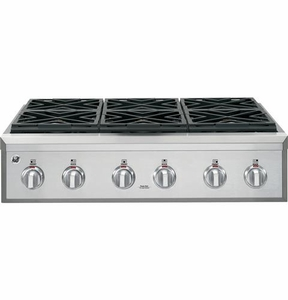 "CGU366SEHSS GE Cafe 36"" Gas Rangetop with 6 Burners - Stainless Steel"