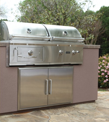"""CH50LP Coyote 50"""" Hybrid Gas and Charcoal Grill - Liquid Propane - Stainless Steel"""