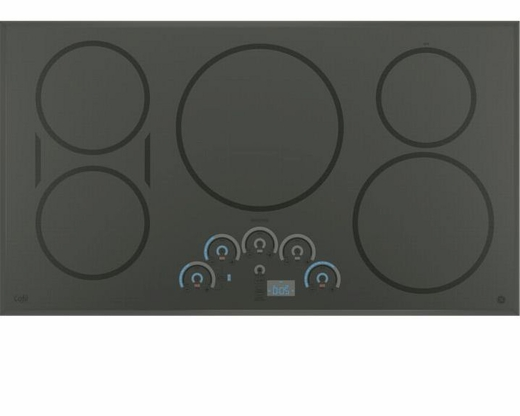 "CHP9536SJSS GE Cafe 36"" Built In Touch Control Induction Cooktop - Gray"