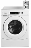 "CHW9050AW Whirlpool 27"" High-Efficiency Front-Load Commercial Washer with Factory-Installed Coin Slde and Coin Box - White"