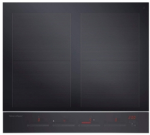 """CI244DTB2N Fisher & Paykel 24"""" 4 Zone Touch&Slide Induction Cooktop with Dual Color Display - Black"""
