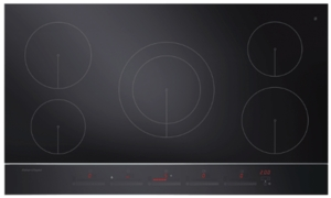 "CI365DTB2 Fisher & Paykel 36"" 5 Zone Touch & Slide Induction Cooktop with Dual Color Display - Black"