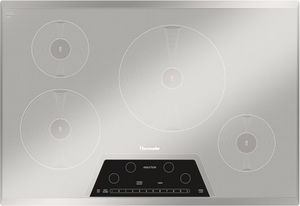 CIT304KM Thermador 30 Inch Masterpiece Series Induction Cooktop With 4  Zones   Silver Mirrored Finish