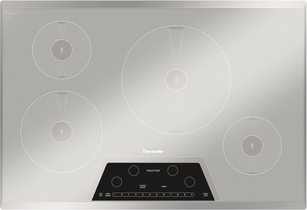 30 inch induction cooktop. CIT304KM Thermador 30 Inch Masterpiece Series Induction Cooktop With 4 Zones - Silver Mirrored Finish