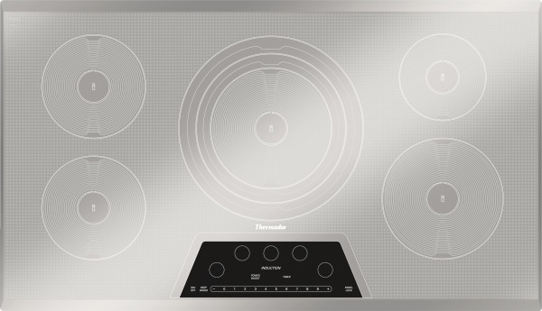 CIT365KM Thermador 36 Inch Masterpiece Series Induction Cooktop With 5  Zones   Silvored Mirrored Finish